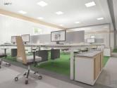 Birou operațional QUANTUM-1 picioare metalice 1200x600mm