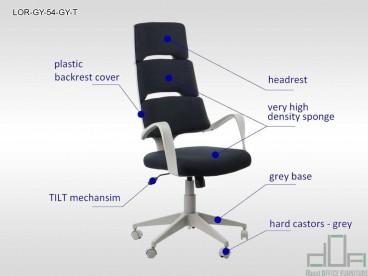 Scaun de birou rotativ, ergonomic, pivotant LORETTO
